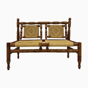 Mid-Century French Rope Sofa in the Style of Audoux & Minet