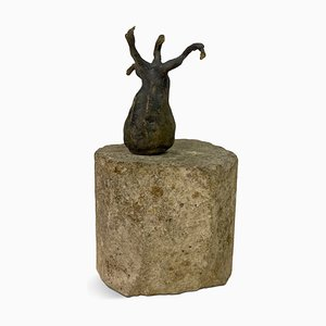 Abstract Bronze and Stone Sculpture