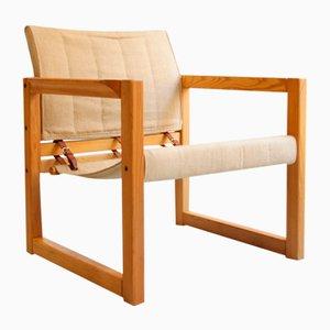 Diana Linen Safari Chair by Karin Mobring for Ikea