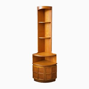 Tall Mid-Century Teak Corner Unit or Bookcase from Nathan