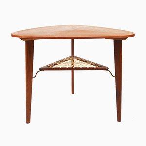 Vintage Danish Teak Side Table by Holger Georg Jensen for Kubus, 1960s