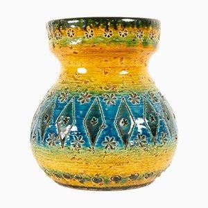 Vintage Italian Rimini Blue Vase by Aldo Store for Bitossi, 1960s