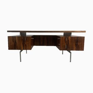 Minimalist Rosewood Executive Desk, 1960s