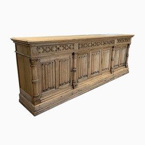 Antique Bleached Oak Sideboard