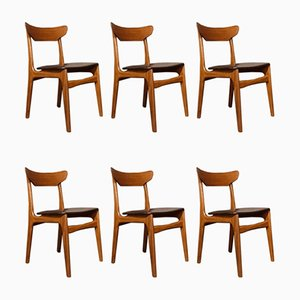 Mid-Century Danish Teak Chairs by Schionning & Elgaard for Randers, Set of 6