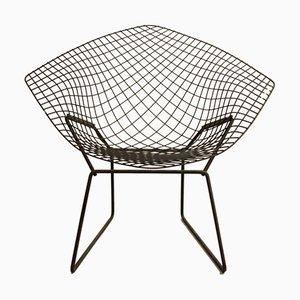 Black Vintage Diamond 421 Chair by Harry Bertoia for Knoll