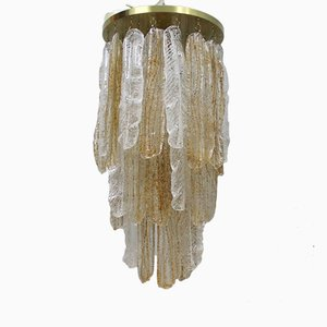 Italian Cascading Crystal Chandelier from Murano, 1970s