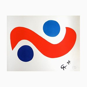Skybird, Limited Edition Lithograph by Alexander Calder for Braniff Airlines, 1974