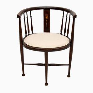 Antique Edwardian Mahogany Tub Chair