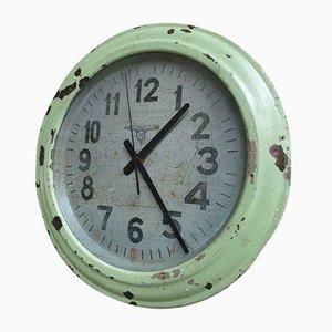 Vintage Wall Clock Green Factory Clock