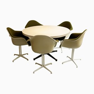 Dining Table Set by Ray and Charles Eames for Vitra, 1970s, Set of 6