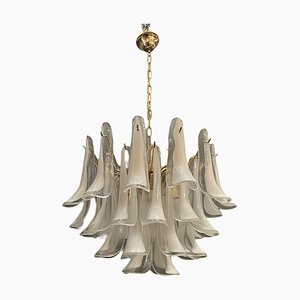 Large Murano Glass Feather Chandelier by La Murrina