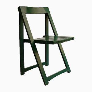 Silla plegable verde de Aldo Jacober para Bazzani, 1970