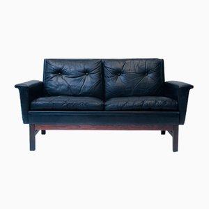 Leather Sofa, Denmark, 1960s