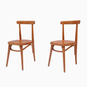 Beech Childrens Chairs, 1950s, Set of 2