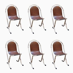Stak-a-Bye Chairs from Sebel, 1940s, Set of 6
