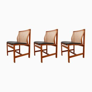 Mid-Century Dining Chairs by Rud Thygesen and Johnny Sørensen, Set of 3