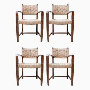 Mid-Century Cord Dutch Dining Chairs, Set of 4