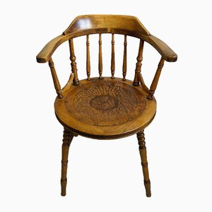 Antique English Captain's Chairs, Set of 4