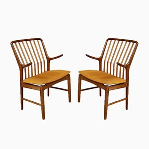 Mid-Century Danish Dining Carver Chairs by Svend Åge Madsen, Set of 2