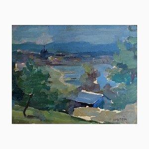 Mady Epstein, Vue sur Genève, le Jura et le lac Depuis Cologny, 1958
