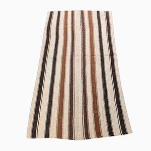 Turkish Kilim Vintage Flat Weave Small Carpet