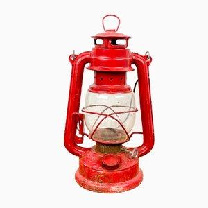 Red Vintage Oil Lamp