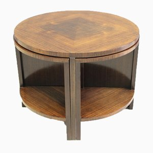 Art Deco Rosewood Pedestal Table with Nesting Elements