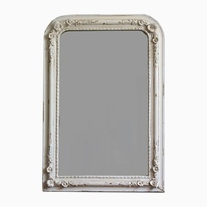 Louis Philippe Mirror with Plaster Flowers, 1870s