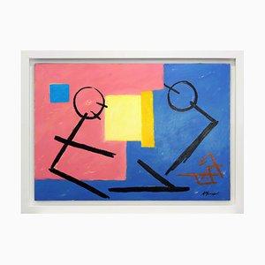 Antonio Minopoli, Dialogo Tra Gli Opposti, Acrylic on Canvas