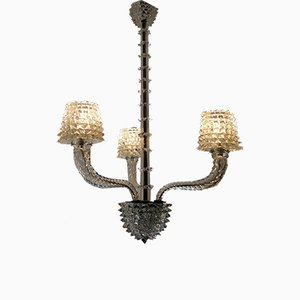 Chandelier in Rostrato Glass by Ercole Barovier for Barovier & Toso, 1947