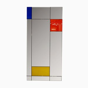 Large Italian Wall Mirror in the Style of Piet Mondrian by Rimadesio