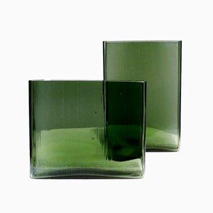 Mid-Century Vases by Lennart Andersson for Gullaskruf, 1959-1961, Set of 2