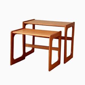 Teak Nesting Tables from Salin Nyborg, 1960s, Set of 2