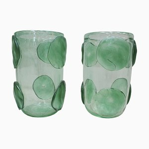 Murano Glass Vases from Costantini, Italy, 1980s, Set of 2
