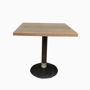 Oak & Metal Bistro Table, 1960s