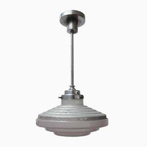 French Art Deco Industrial Pendant Light