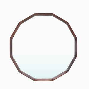 Shaped Wooden Frame Mirror from Tredici & Co., 1960s