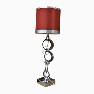 Table Lamp with Chrome Metal Base from Circles Assemblies