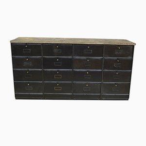 Lower Cabinet in Oak and Copper Metal