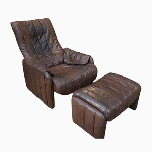 DS-50 Armchair with Ottoman, 1970s, Set of 2
