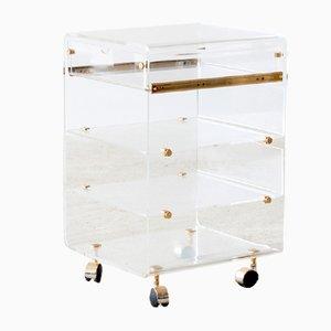 Italian Plexiglass Side Table, 1980s