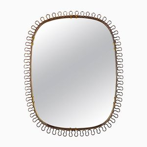 Scandinavian Brass Mirror by Josef Frank, 1960