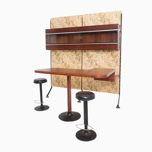 Bar & 2 Stools Set by Ico Parisi for MIM, 1960s