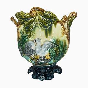 Barbotine St Clement Cache Pot, 1900s