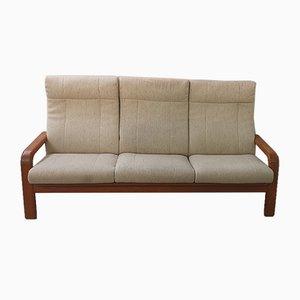 Mid-Century Three-Seater Danish Teak Sofa