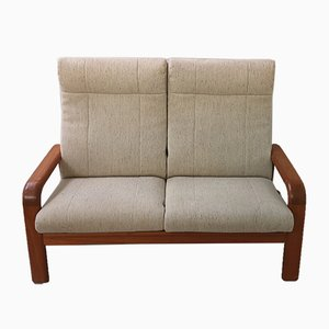 Mid- Century Double Danish Teak Sofa