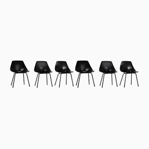 Mid-Century Side Chairs by Pierre Guariche for Steiner, Set of 6