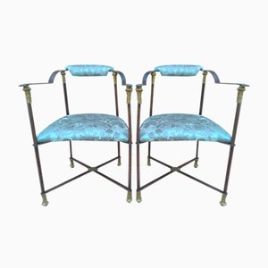 Auburn Armchairs with Gilding, Set of 2
