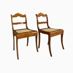 Austrian Biedermeier Dining Chairs, Early 19th Century, Set of 2